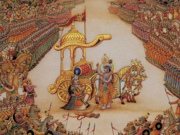 Arjuna Rende-se ao Senhor