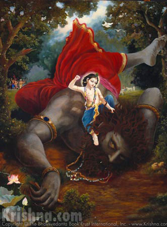 Lord Balarama Slays The Demon Pralamba
