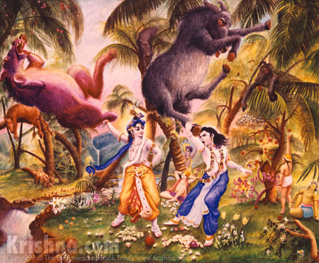 Krishna and Balarama in Talavan Forest