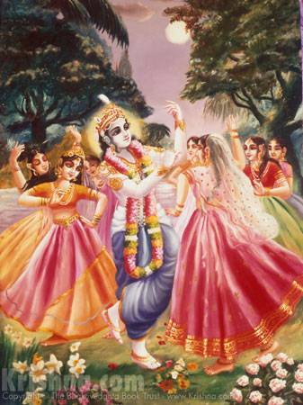 Balarama Enjoys Rasa Dance with the Gopis