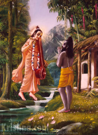 Narada Instructs Vyasadeva to Write the Srimad-Bhagavatam
