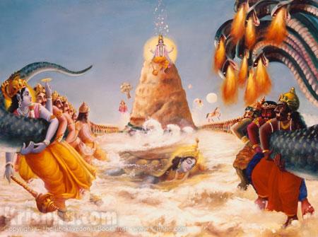 Kurma Churns The Mandara Mountain