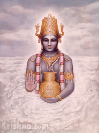 Dhanvantari With the Pot of Nectar