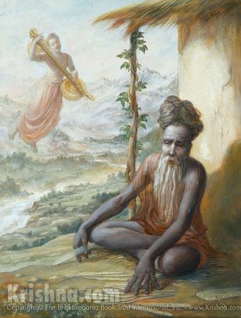 Narada Muni Encourages Vyasadeva to Write the Srimad Bhagavatam