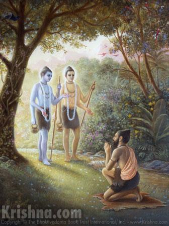 Nara and Narayana Appear Before Markandeya Rshi