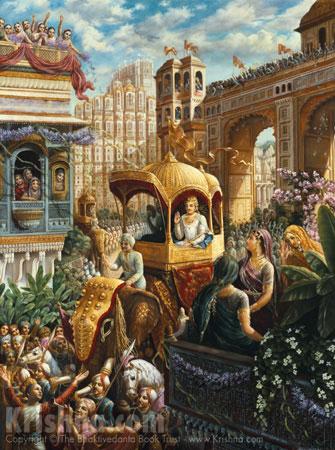 King Prthu Enters His City