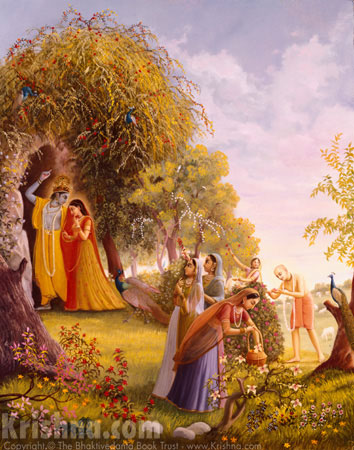 Lord Chaitanya Enters The Pastimes Of Radha and Krishna