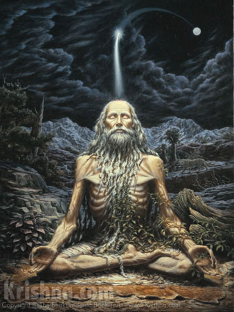 The Mystic Yogi Leaves His Body