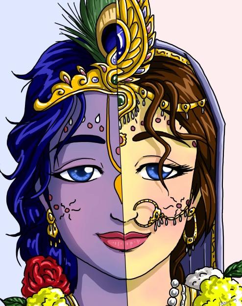23 SI (história - Krishna) O Casamento de Krishna e Rukmini (3050) (bg)1