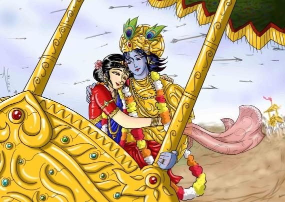 23 SI (história - Krishna) O Casamento de Krishna e Rukmini (3050) (bg)5