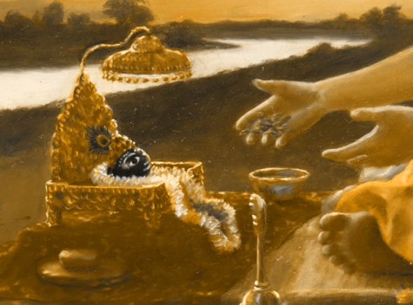 14 SI (oração - Caitanya e Associados) A Oração de Advaita (Goura Purnima, dia 16) (485)