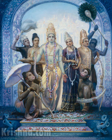 Lord Ramachandra's Triumphant Return to Ayodhya