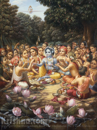 Krishna Enjoys Lunch With the Cowherd Boys