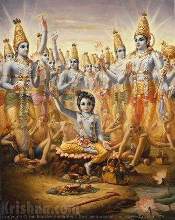 Lord Krishna Bewilders Brahma