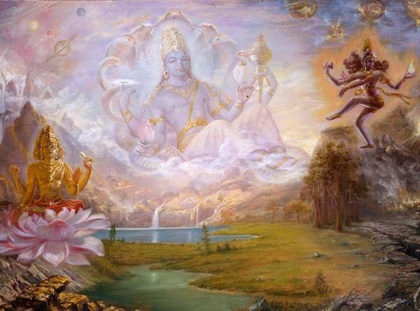 13 I (artigo - semideuses e semideusas) Brahma, Vishnu e Shiva, Trindade ou Não Trindade (2000)