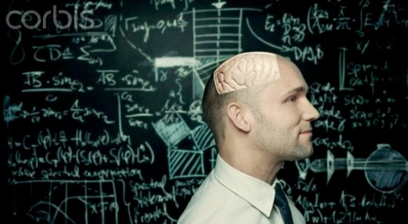Brain of an intelligent man --- Image by © Ben Hupfer/Corbis