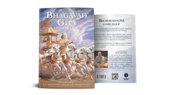 capa do livro bhagavad-gita