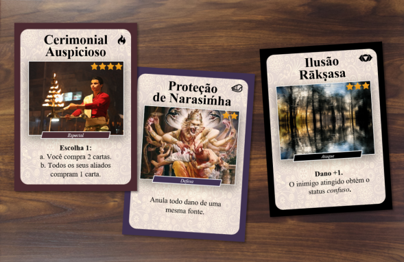 Três dos 108 cards do jogo Expedição Rajasuya, criado exclusivamente para uso no IBEV.png